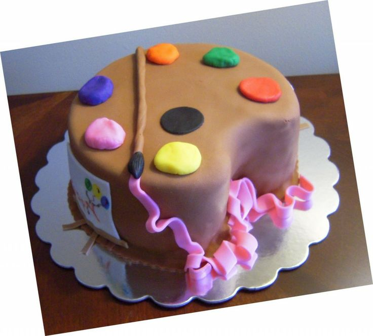 Birthday Cake Ideas For Art Party : birthday cake arts and crafts Party Ideas Pinterest