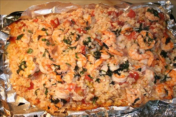 Basil Shrimp with Feta and Orzo | Recipe