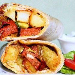 Chorizo, Potato and Avocado Burritos | latin{esque} food | Pinterest