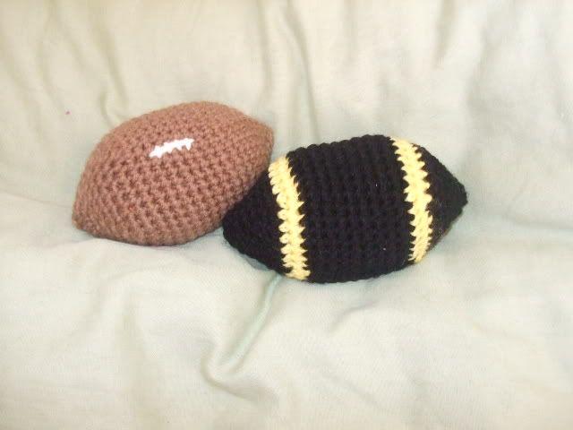 Crochet Pattern For Football Blanket : crochet football pattern