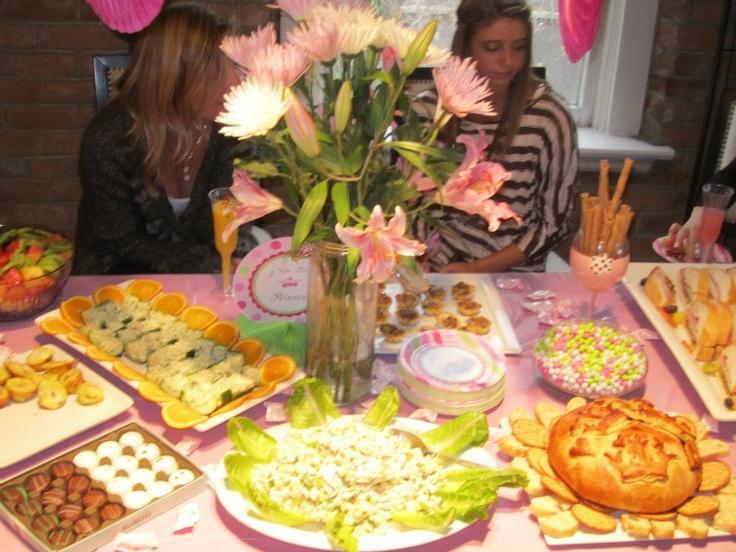 frittatas, stuffed cucumbers, muffalettas, chicken salad, baked brie ...