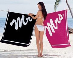 mr. and mrs. beach towels...perfect for honeymoon