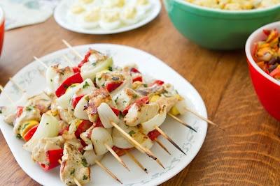 Garlic-Lemon Chicken Kabobs | Eating Healthier | Pinterest