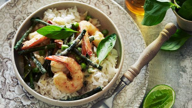 Thai green prawn curry, minus the prawns