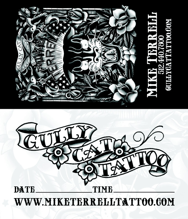 Business card design by for mike terrell at for Business card size tattoos