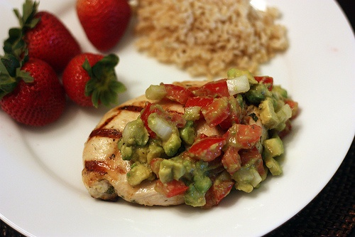 Cilantro-lime chicken with avocado salsa | Pucker Up, Buttercup! ~ Li ...