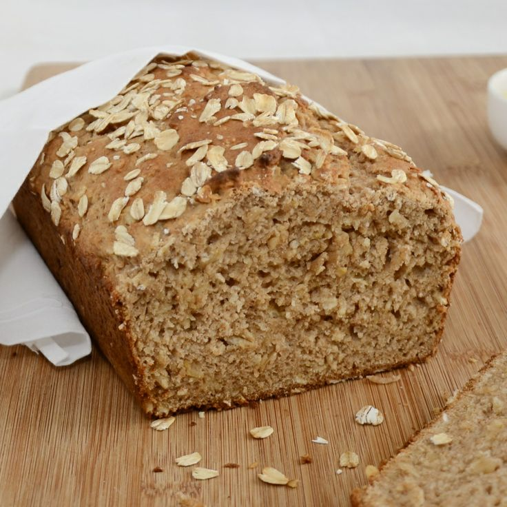 Honey Oat Quick Bread - added 2 tbsp chia seeds, extra oats on bottom ...