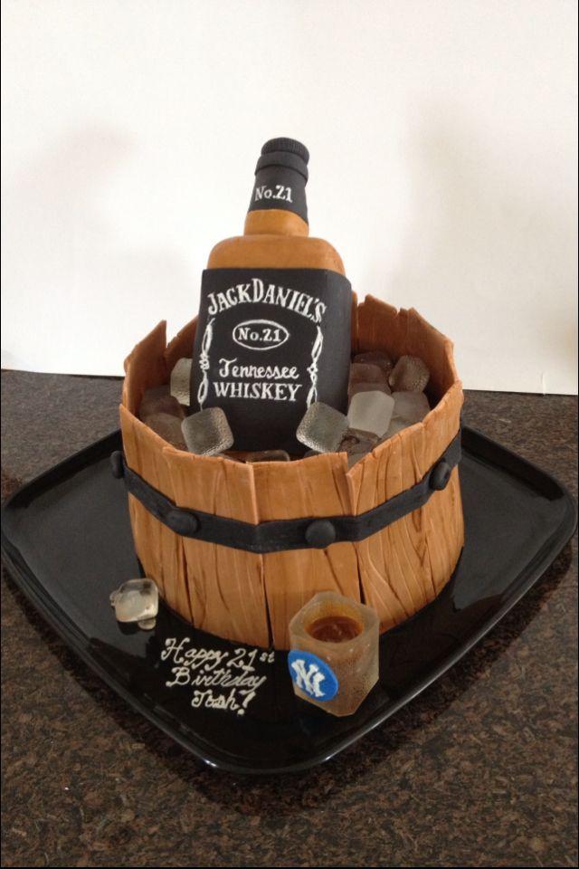 Jack Daniels cake  Birthday cake ideas  Pinterest