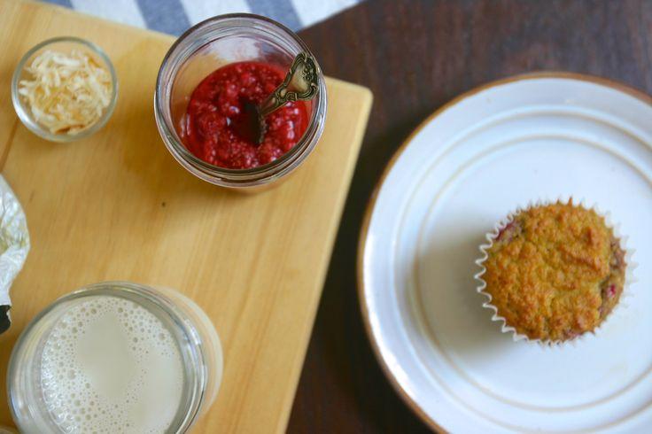 Coconut Orange Raspberry Swirl Muffins - PRIMAL BITES