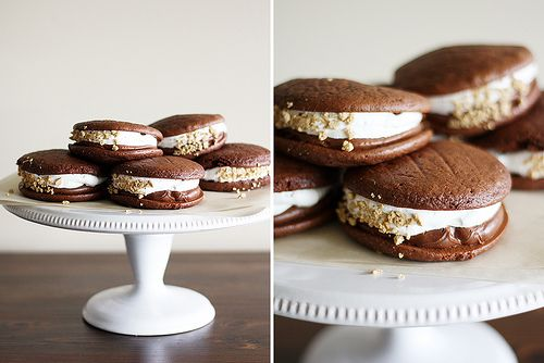 Double Chocolate S'mores Whoopie Pies | Girl Versus Dough