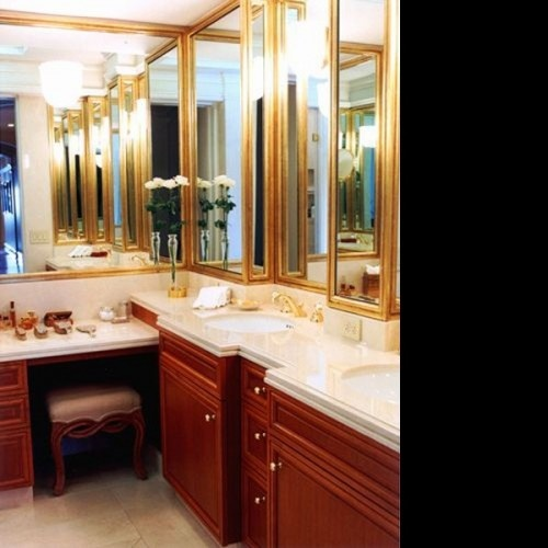 L shaped bathroom vanities with model inspirational in for Bathroom l shaped vanities