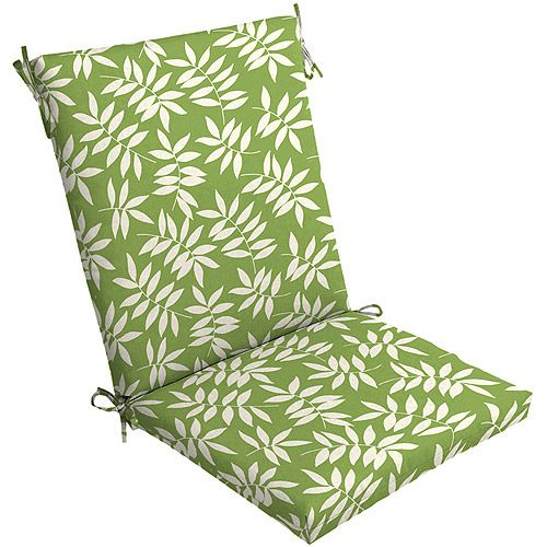 mainstays floral outdoor chair cushion green leaf patio furniture