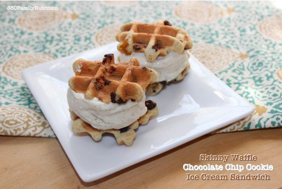 ... Nutrition: Skinny Waffle Chocolate Chip Cookie Ice Cream Sandwiches