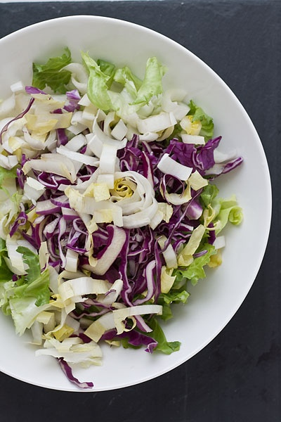 Chicory Salad with homemade Blue cheese dressing