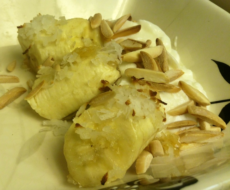 Banana coconut fritters (I thought it was yummy. Hubby wasn't a fan. I ...