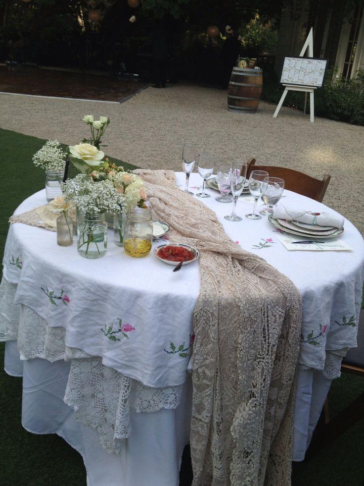 Bride and groom table weddings pinterest