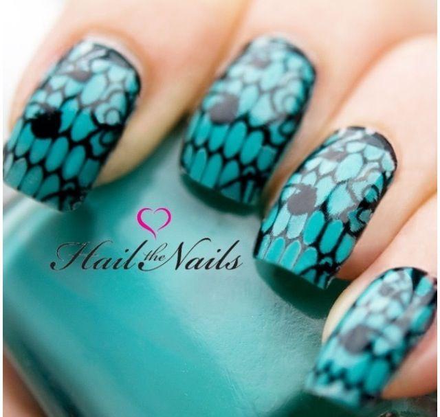 Blue Nail Art | Nails | Pinterest