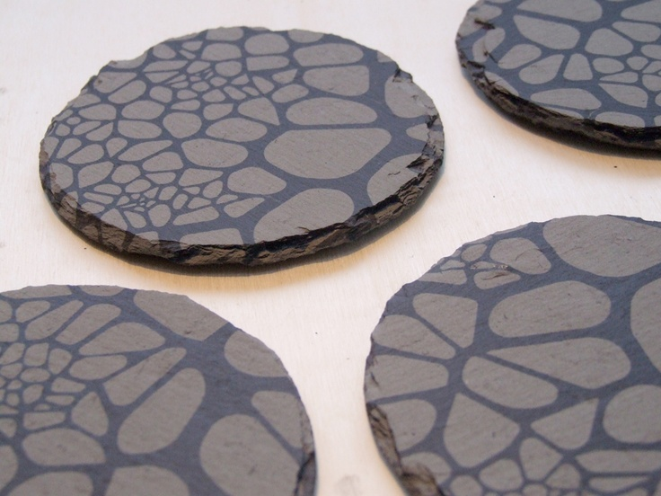 Engraved slate drink coasters inspirations pinterest - Slate drink coasters ...