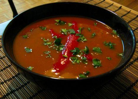 Spicy Sweet Potato Soup | recettes à essayer | Pinterest