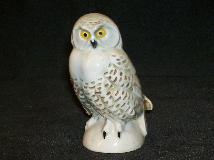Goebel White Porcelain Snowy Owl Figurine W Germany