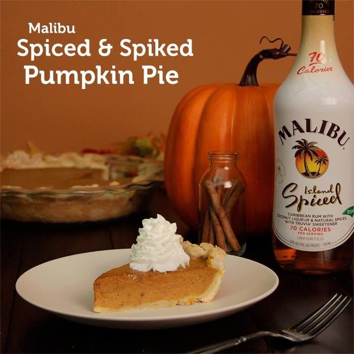 Malibu Spiced & Spiked Pumpkin Pie | Pumpkin | Pinterest