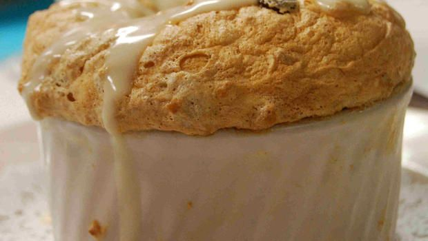 Recipe: Bread Pudding Souffle With Whiskey Sauce - Commander's Place ...