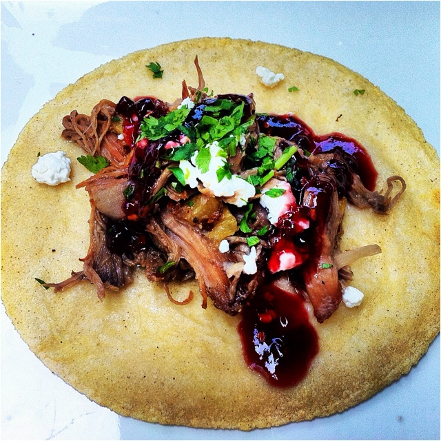 Duck Tacos With Chipotle Cherry Salsa And Goat Cheese ...