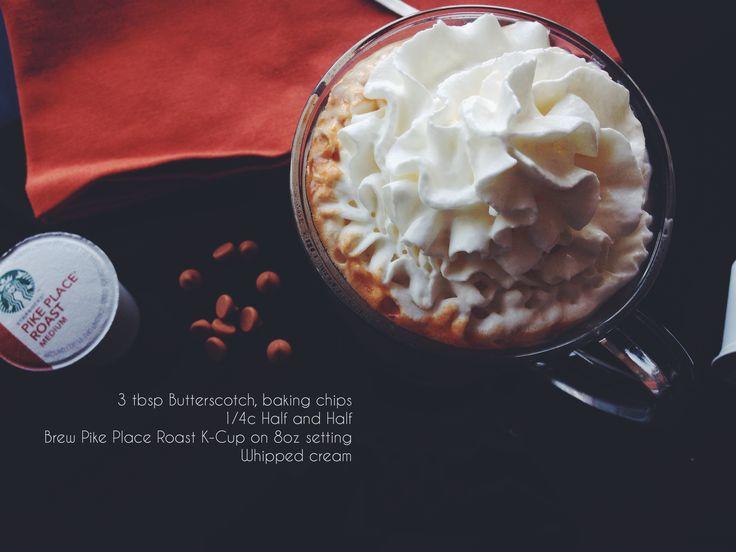 Butterscotch Cream Coffee #KCupRecipes