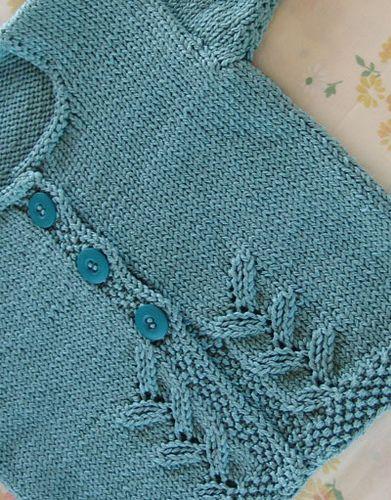 Free pattern Knitting...Sweaters for little girls Pinterest