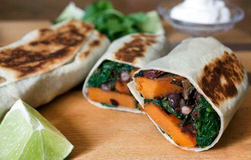 Sweet potato black bean burrito   rock that body   Pinterest