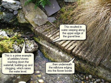 how to build a tiled pond