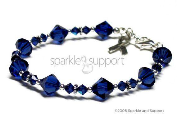 Colon Cancer Awareness Swarovski Crystal Bracelet