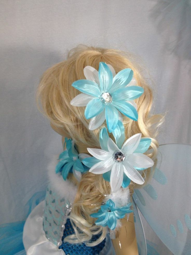 hanging lily fairy hair clip elsa or periwinkle