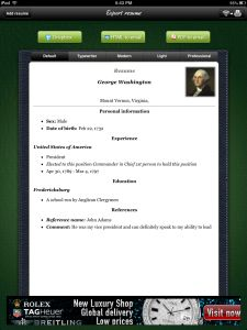 resume builder project resume template