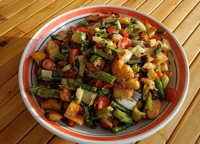 Dine Well: Grilled Vegetable Panzanella   Hunger for Health   Pintere ...