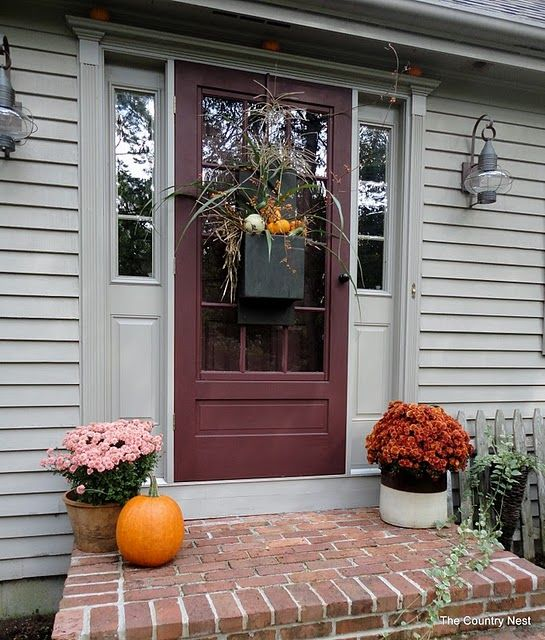 Fall Front Porch Decorating Ideas Fall Decor Pinterest