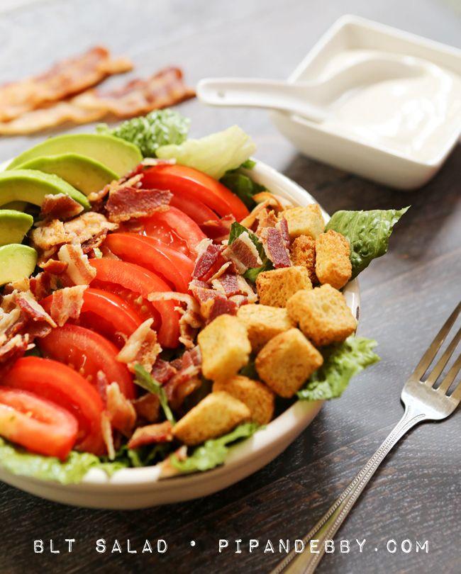 BLT Salad | Life is Just a Bowl of Salad | Pinterest