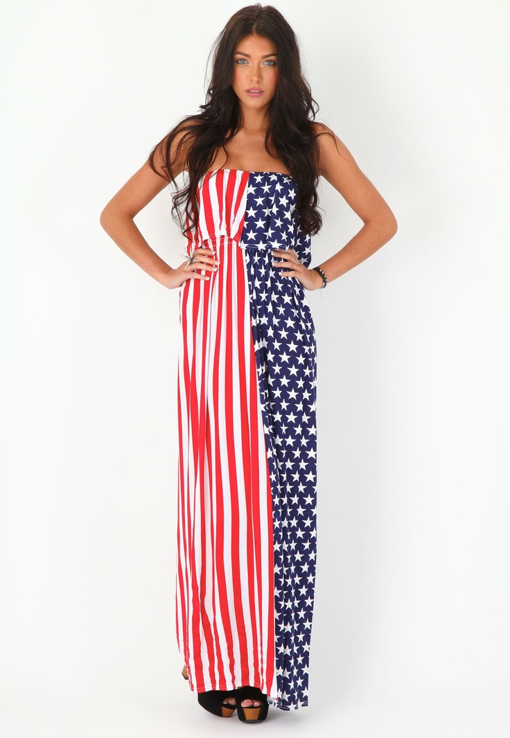 fourth of july maxi dress