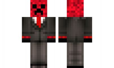 minecraft skin Red-CreeperMinecraft Red Creeper
