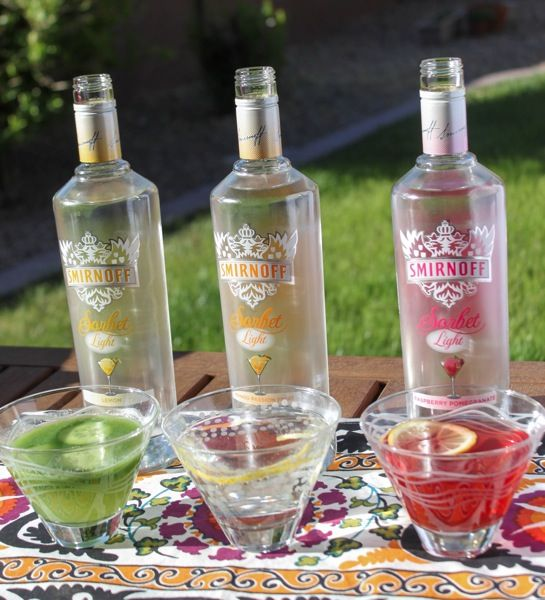 Smirnoff Sorbet Light Summer Cocktails - add some real sorbet and throw ingredients in the blender for a real summer treat!