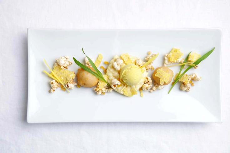 ... sweet corn ice cream, brown butter kettle corn, candied corn and corn
