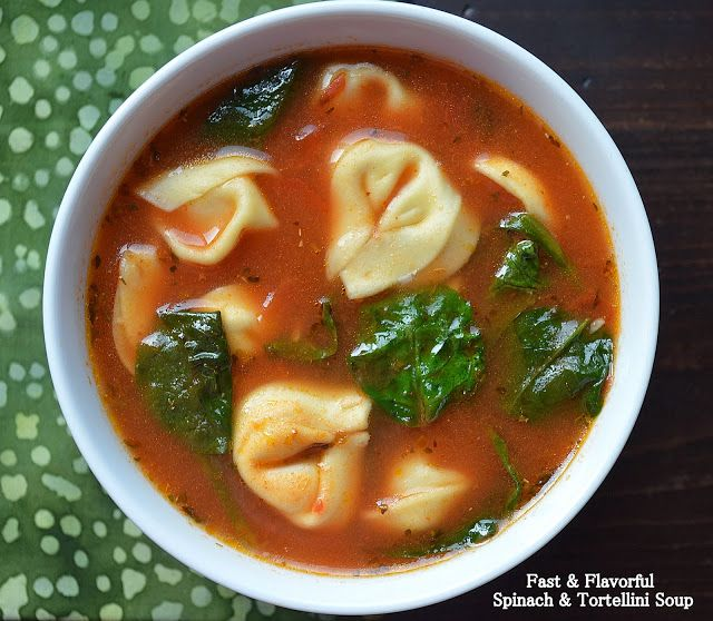 Souffle Bombay: Garlicky Tortellini Soup with Tomato and Spinach ...