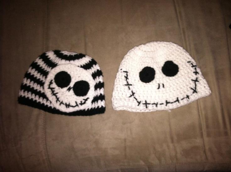 Crochet Patterns Nightmare Before Christmas : Nightmare before Christmas beanies Crochet Pinterest