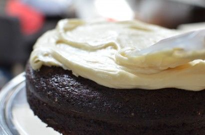 Chocolate Stout Cake with Bailey's Cream Cheese Frosting | Recipe