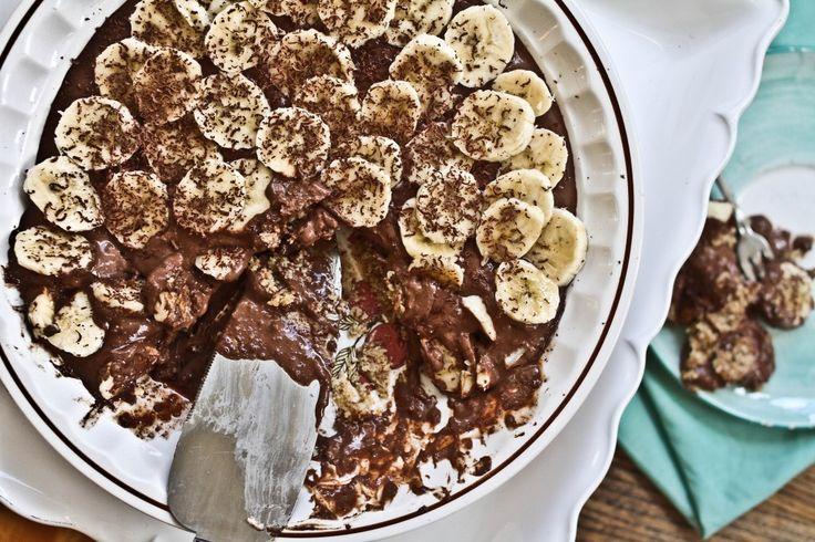 chocolate banana cream pie. Almond flour and butter crust, chocolate ...