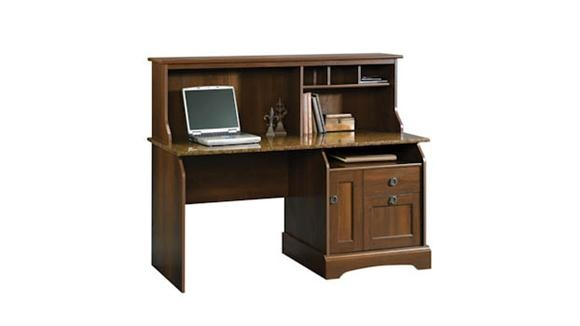 Computer Desk with Hutch Euro Oak / Sunset Granite by Sauder - 1-800