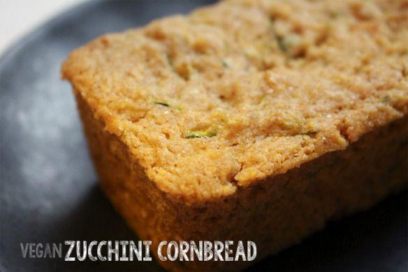 Vegan Zucchini Cornbread | Vegan Desserts/Baked Goods | Pinterest