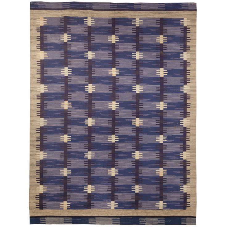 A Vintage Swedish Rug Designed by Anna-Maria Hoke. This may be purchased on ecofirstart.com