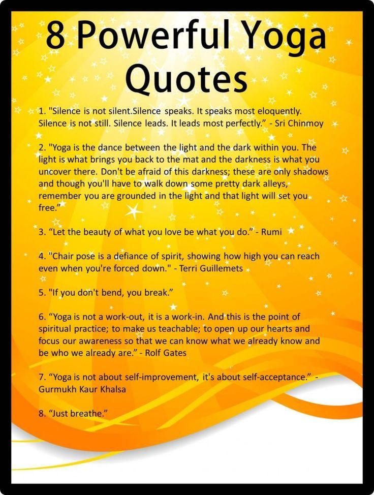 8 Powerful Yoga Quotes | Healing journey | Pinterest