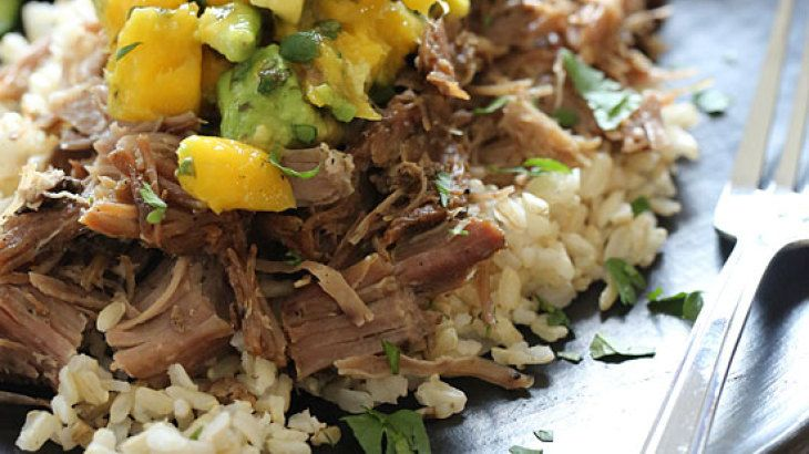Slow Cooked Jerk Pork with Caribbean Salsa